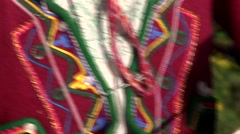 Indigenous woman spinning wool, Peru Stock Footage