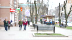 Crowd of people on the street 4K ( 3840x2160) Stock Footage