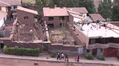 Shanty town in Cusco, Peru Stock Footage