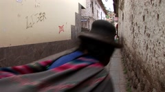 Streets in Shanty town in Cusco, Peru Stock Footage
