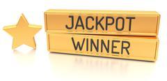 Jackpot Winner - 3d banner, isolated on white background Stock Illustration