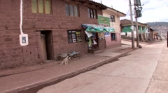 Streets in Shanty town in Cusco, Peru - stock footage