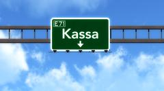 Stock Illustration of Kassa Slovakia Highway Road Sign