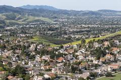 California Valley Suburbs Stock Photos