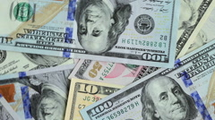 Heap of dollars, money background - stock footage