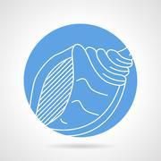 Stock Illustration of Blue vector icon for sea shell