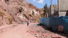 Poor children in Peru Stock Footage