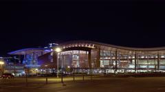 Music city center and Bridgestone arena Stock Footage