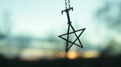 pentagram symbolism - stock footage