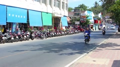Locals are actively using scooters, Thailand - stock footage