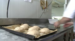 Hand Made Bread Being Made - stock footage