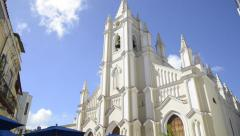 Iglesia del Santo Angel Custodio - Havana Cuba Stock Footage