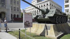 Military Tank - Museum of the Revolution, Havana Cuba Stock Footage
