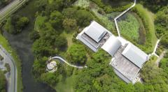 Long Key Nature Center Aerial Footage Stock Footage