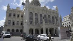 Old City Wall and Revolution Museum - Havana Cuba Stock Footage
