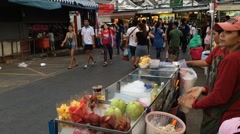 Street fruit vendor Stock Footage