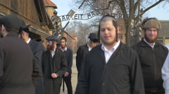 Group of Jews at Auschwitz Concentration Camp Stock Footage