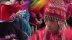 traditional folklore dance in Peru - stock footage