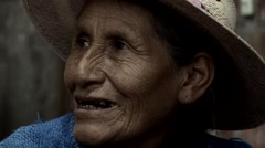 Old Woman in Peru Stock Footage