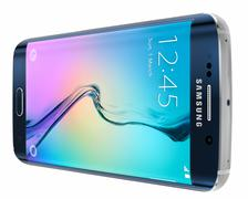 Black Sapphire Samsung Galaxy S6 Edge Stock Illustration