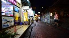 Evening Bangkok downtown Stock Footage