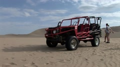 Buggy in Dunes - stock footage