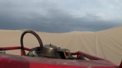 Offroad Buggy in Desert - stock footage