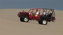 Buggy in Dunes Stock Footage