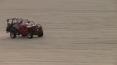 Offroad Buggy in Desert Stock Footage