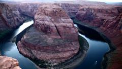 Horseshoe at the Colorado River Stock Footage
