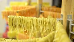 Dried pasta on the stand Stock Footage