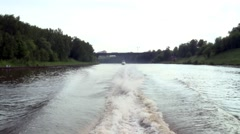 Moscow Canal travel - part 06 HD Stock Footage