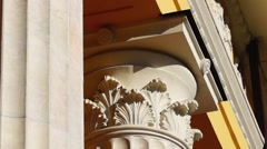 Beautiful capital of column Stock Footage