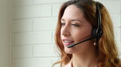 Phone operator - stock footage