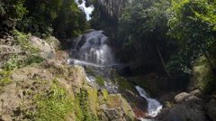 Tropical Waterfall and Beautiful Nature Stock Footage