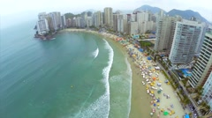 A famous beach in Brazilian Coastline Stock Footage