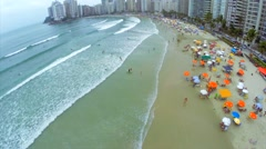 A famous beach in Brazilian Coastline Stock Footage