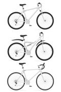 Set icons sports bikes with the rear shock absorber vector illustration Stock Illustration
