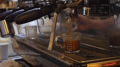 Brewing coffee Stock Footage