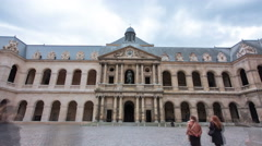 Great Court of Les Invalides complex timelapse hyperlapse, Paris, France Stock Footage