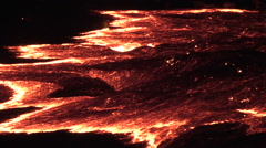 Lava flow of Volcano Erta Ale, Ethiopia Stock Footage