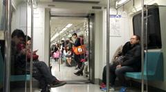 Taipei Metro Carriage.HD Stock Footage