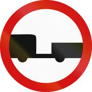 No Trailers in Poland - stock illustration