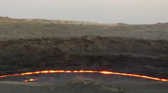 Stock Video Footage of Caldera of Volcano Erta Ale, Ethiopia