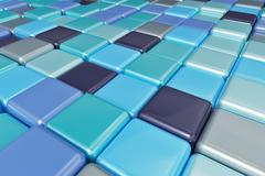 Abstract background of multicolored colorful cubes Stock Illustration