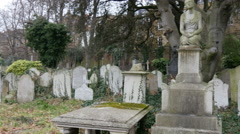 Some of the tombs found inside the cemetery Stock Footage