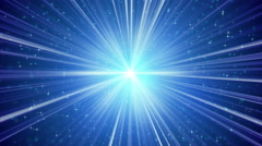 Blue shining light rays and stars loopable background 4k (4096x2304) Stock Footage