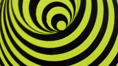 Spinning optical illusion. - stock footage