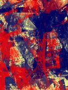 Grunge abstract textured mixed media collage, art background or texture Stock Illustration