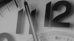 detail shot of clock timelapse - stock footage